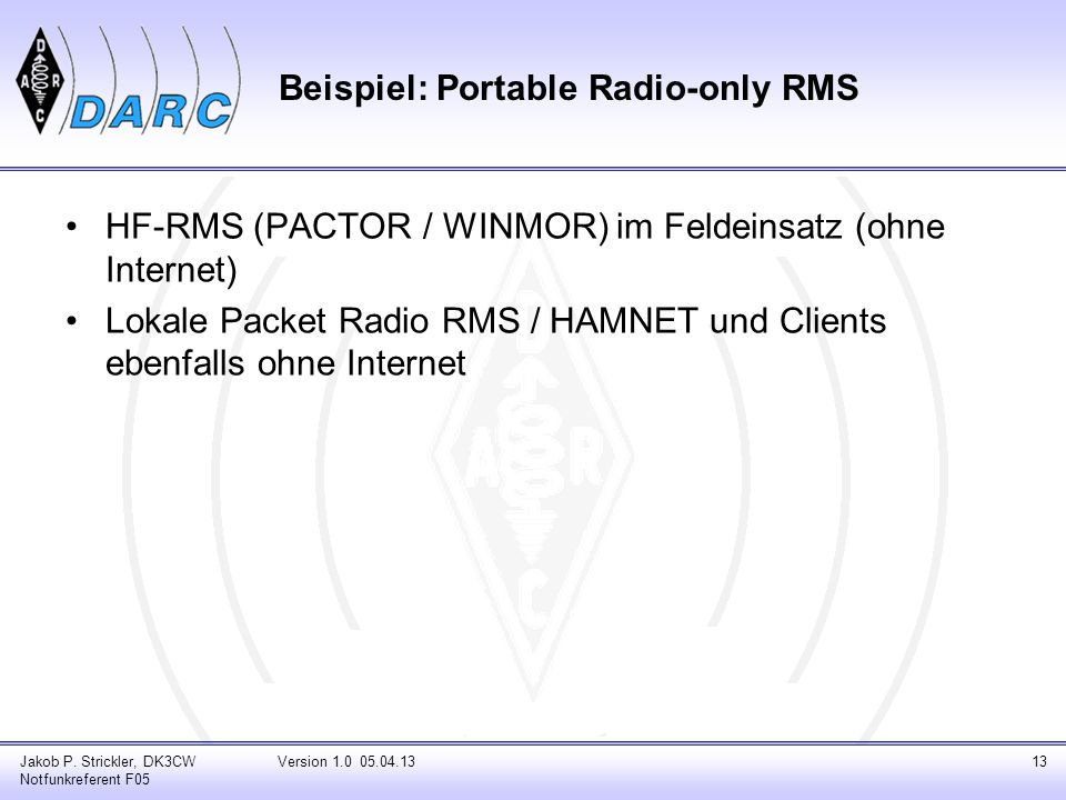 Beispiel: Portable Radio-only RMS Jakob P.