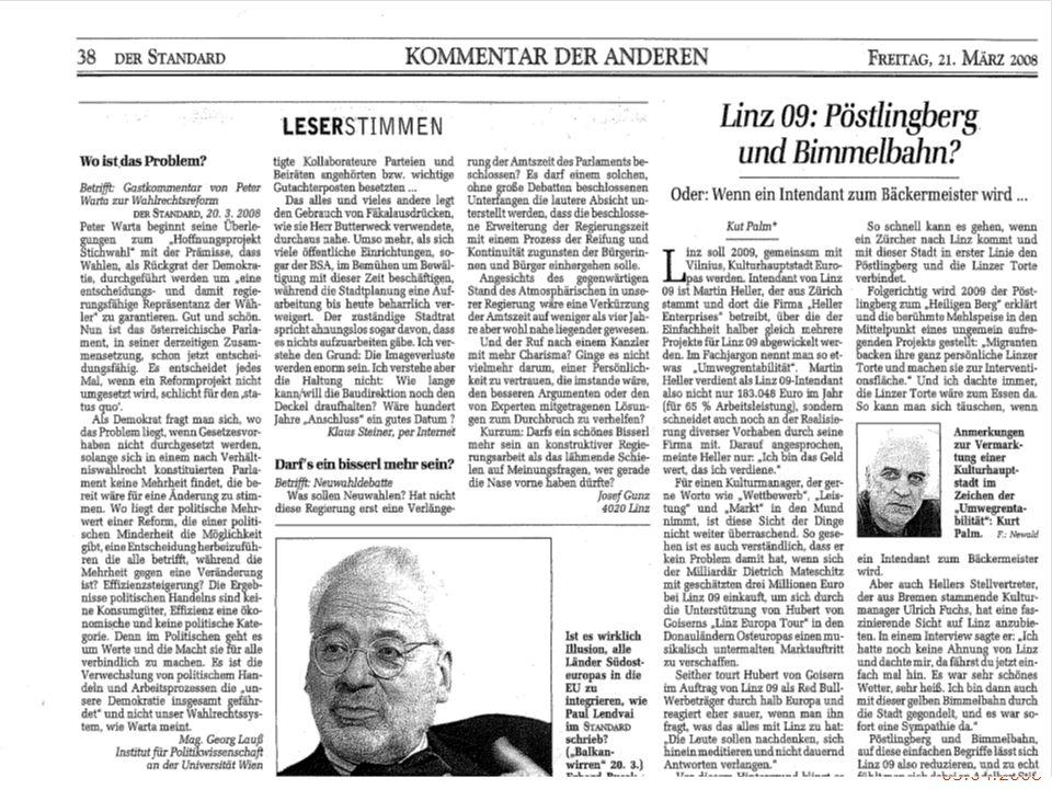 VO G6 H. Gottweis - SoSe 2oo8: (2) Was ist Policy Analyse? 03.04.2008 KOMMENTAR