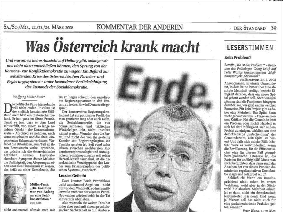 VO G6 H. Gottweis - SoSe 2oo8: (2) Was ist Policy Analyse? 03.04.2008 Das österr. Gesundheitssystem