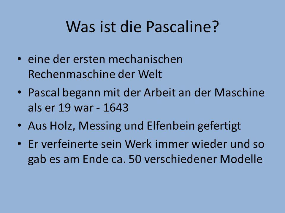 Wie funktioniert die Pascaline.