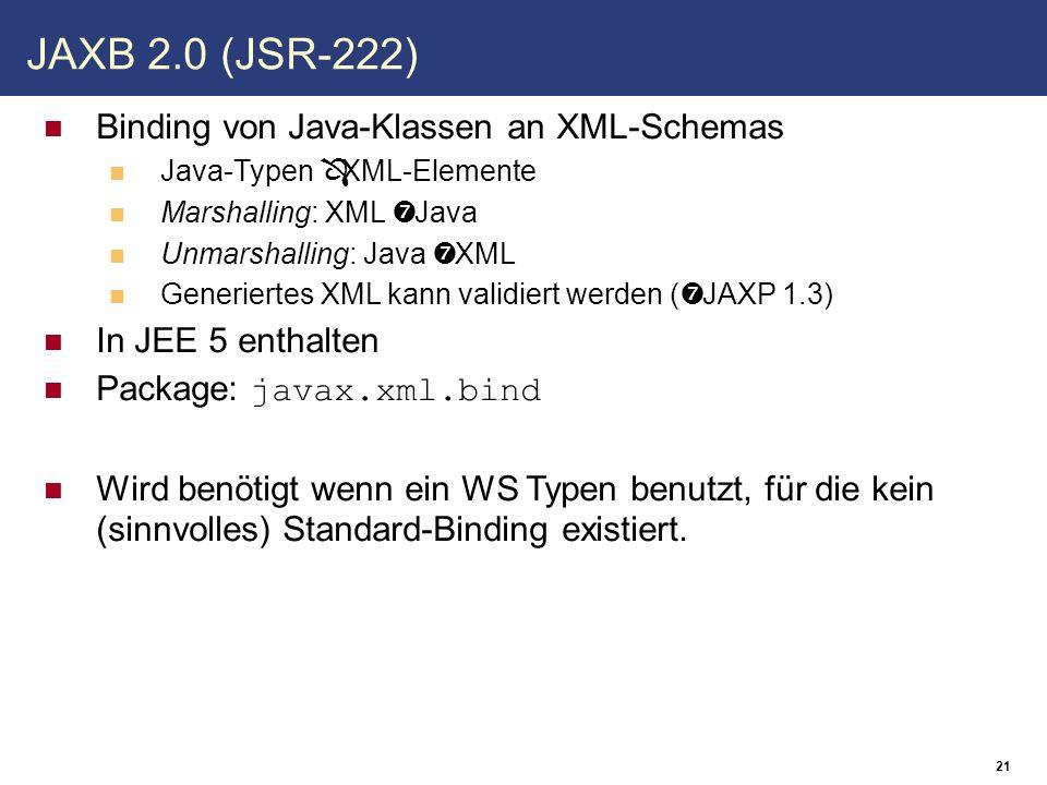 Markiert Web Services die javax.xml.ws.Provider implementieren Direkter Zugriff auf XML-Nachricht  Weniger Overhead (un-/marshalling entfällt) Für weniger komplizierte WS ungeeignet @WebServiceProvider
