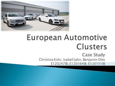 European Automotive Clusters