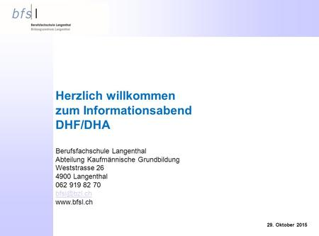 zum Informationsabend DHF/DHA