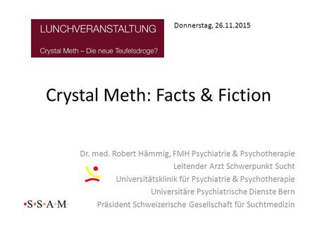 Crystal Meth: Facts & Fiction