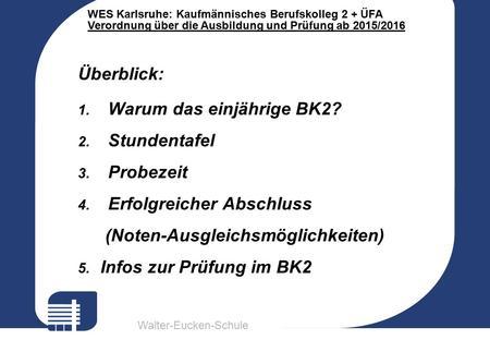Walter Eucken Schule Wes Karlsruhe Kaufm Nnisches