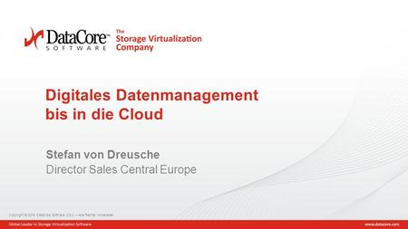 Digitales Datenmanagement bis in die Cloud