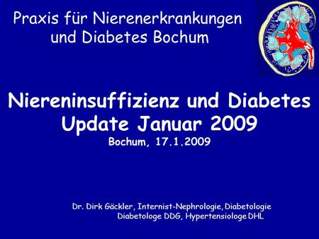 Niereninsuffizienz und Diabetes Update Januar 2009