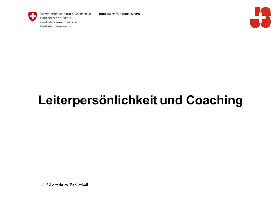 2 Bundesamt für Sport BASPO Jugend+Sport Inhaltsverzeichnis Leiterpersönlichkeit - Trainer und Coach sein Regeln und Rituale Rollen und Aufgaben des Coachs rund um das Spiel Coaching - Philosophie