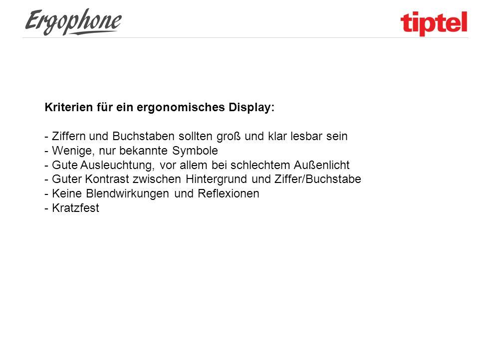 """Displaybeschaffenheit Das neue """"Emporia Elegance besitzt ein OLED Display in Farbe."""