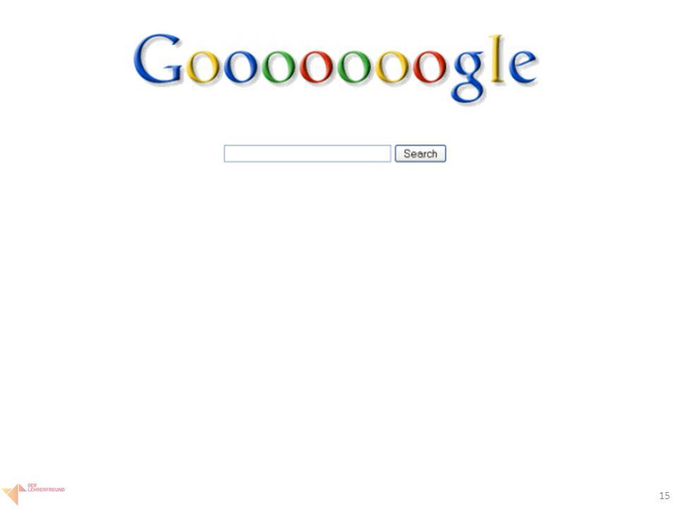 16 Google: Aufbau Ergebnisseite