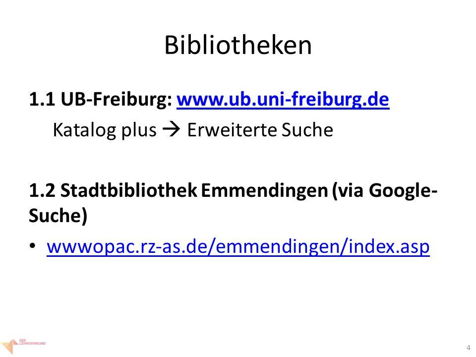 5 Bibliotheken