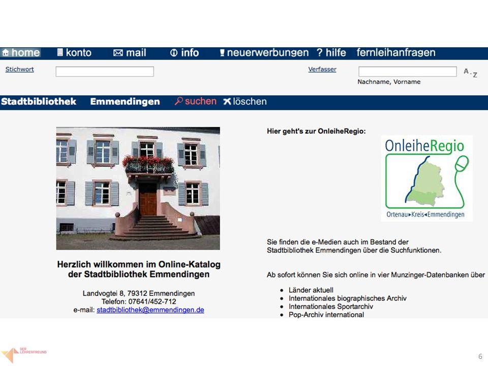 """7 Bibliotheken: Anwendung UB-Freiburg: www.ub.uni-freiburg.dewww.ub.uni-freiburg.de """"industrialisierung im Titel """"bushido in allen Feldern Stadtbibliothek Emmendingen (via Google-Suche) """"säulen der erde """"industrialisierung Autorensuche """"schorlau"""