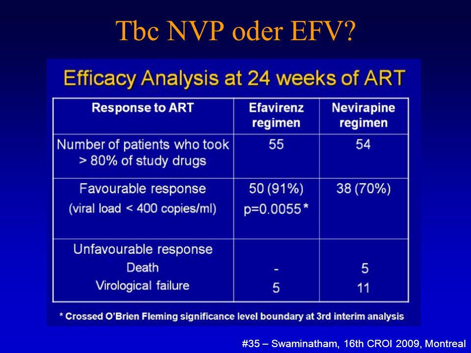 Tbc NVP oder EFV.