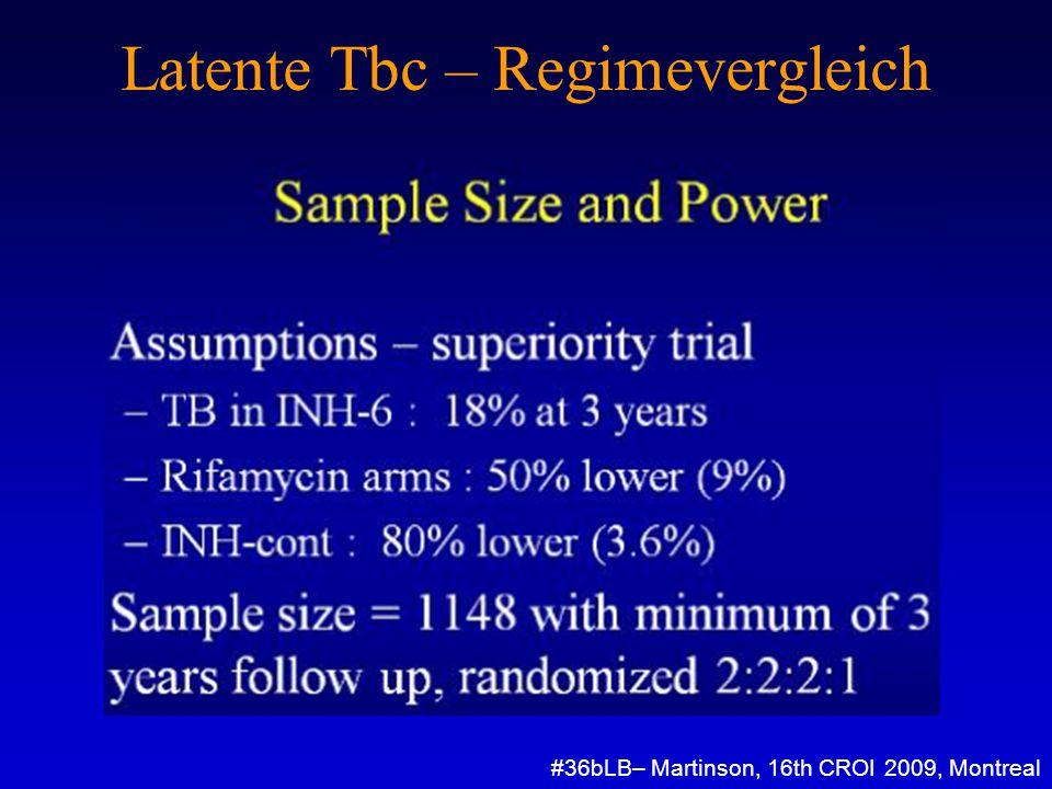 Latente Tbc – Regimevergleich #36bLB– Martinson, 16th CROI 2009, Montreal
