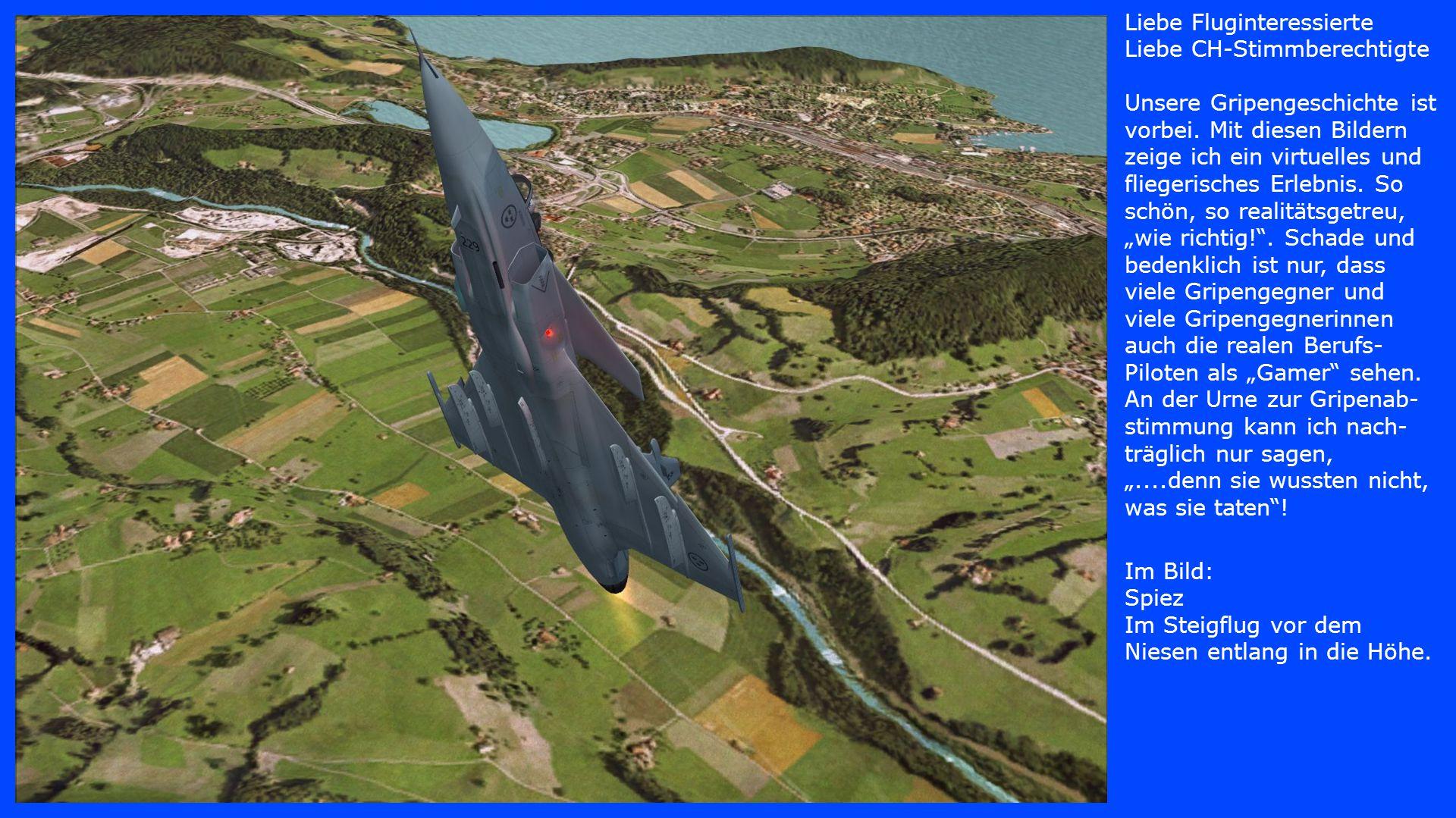 Im Bild: Flugplatz Reichenbach Nach halbem Looping auf dem Rücken über dem Niesen.