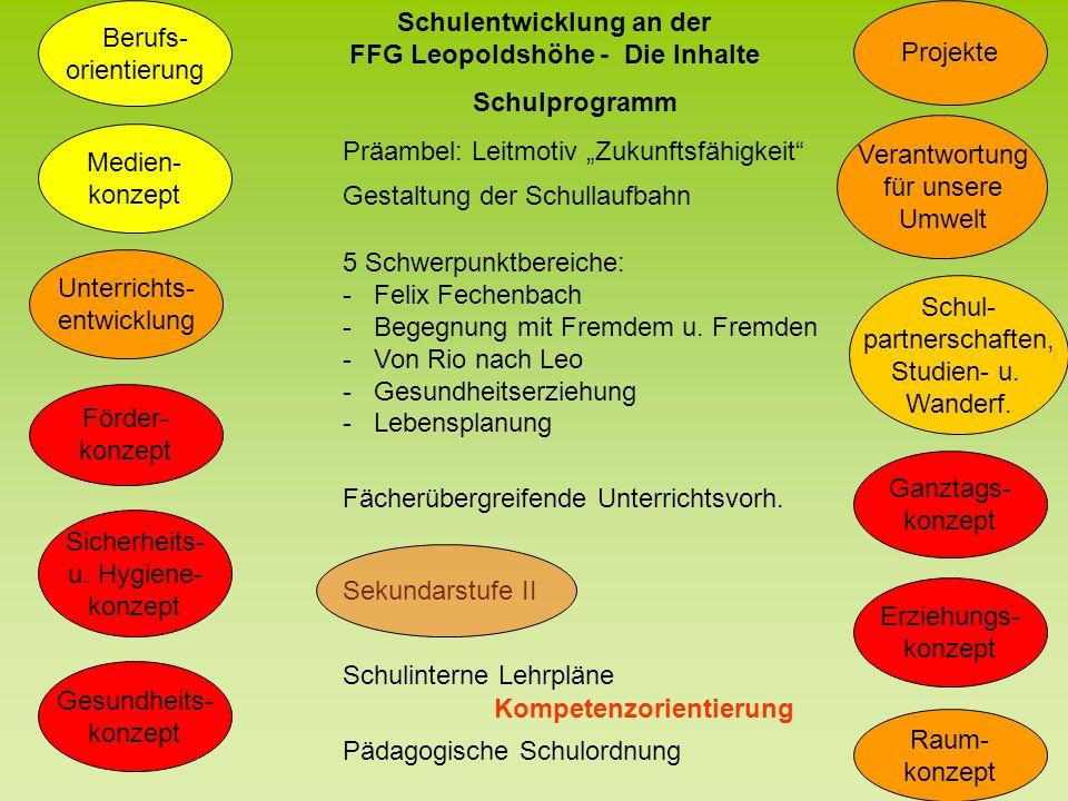 Kollegium Erweiterter Kreis Schulentwicklung an der FFG Leopoldshöhe - Die Organisation Projekt- gruppe Projekt- gruppe Projekt- gruppe Projekt- gruppe Projekt- gruppe Projekt- gruppe Projekt- gruppe Projekt- gruppe Schulleitung Steuer- gruppe