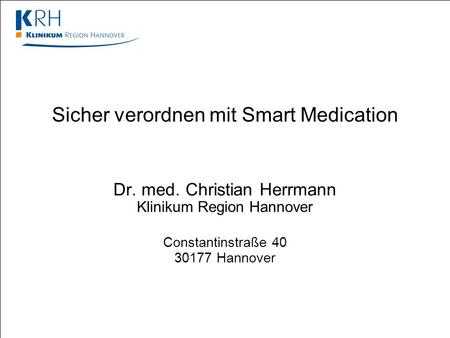 Sicher verordnen mit Smart Medication