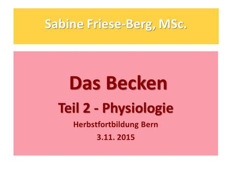Sabine Friese-Berg, MSc.