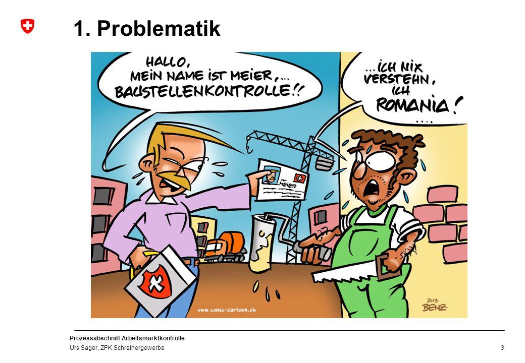 Prozessabschnitt Arbeitsmarktkontrolle Urs Sager, ZPK Schreinergewerbe 2.
