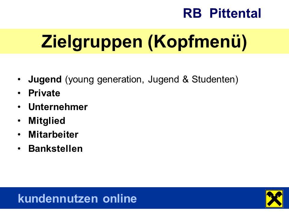 RB Pittental kundennutzen online Immer aktuell Startseite mit den 8 wichtigsten bzw.
