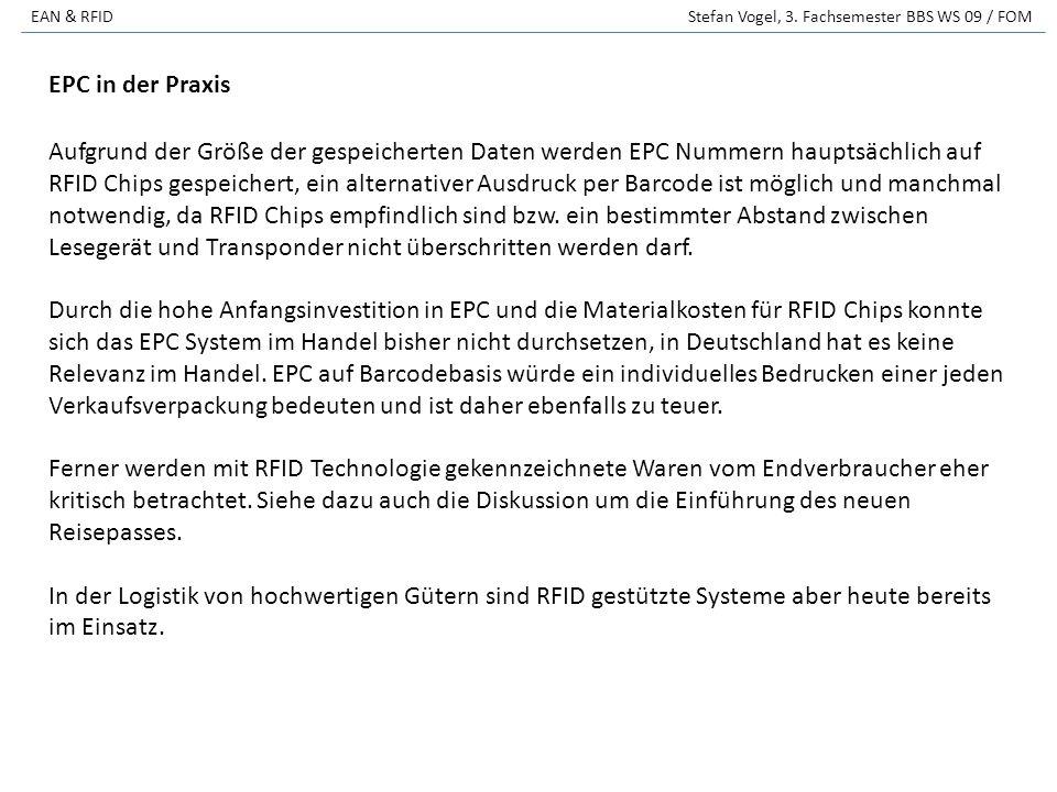 EAN & RFID Stefan Vogel, 3.