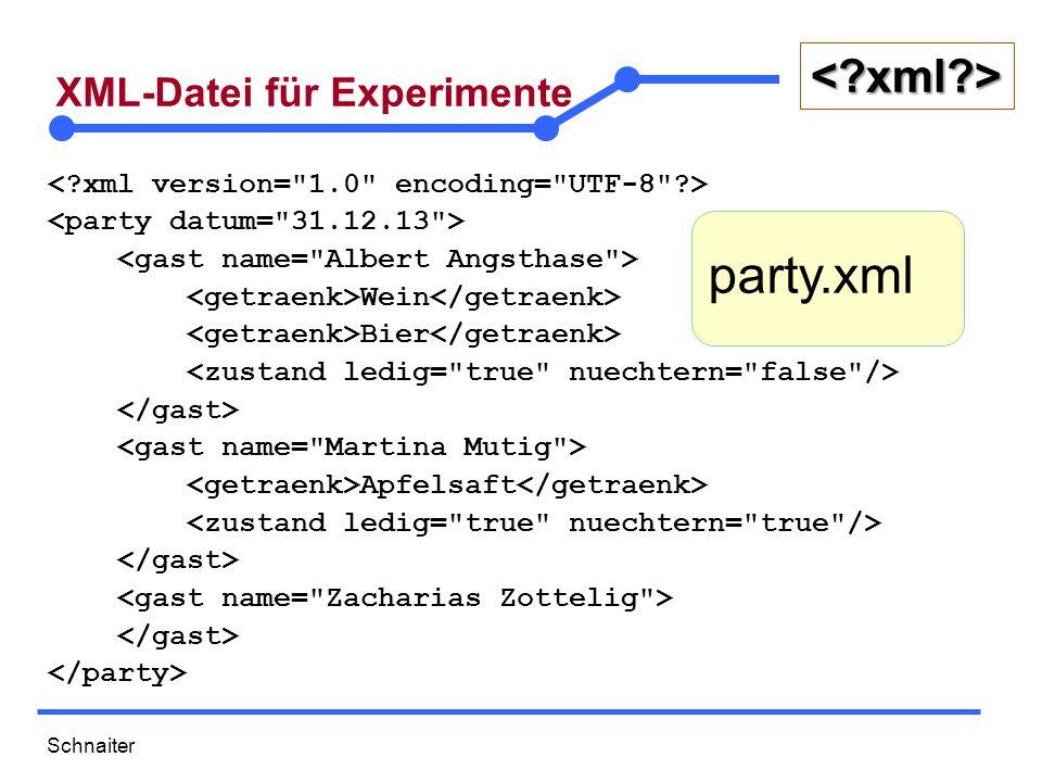 Schnaiter <?xml?> 29 Pankaj Male Java Developer 35 Lisa Female CEO employees.xml ….