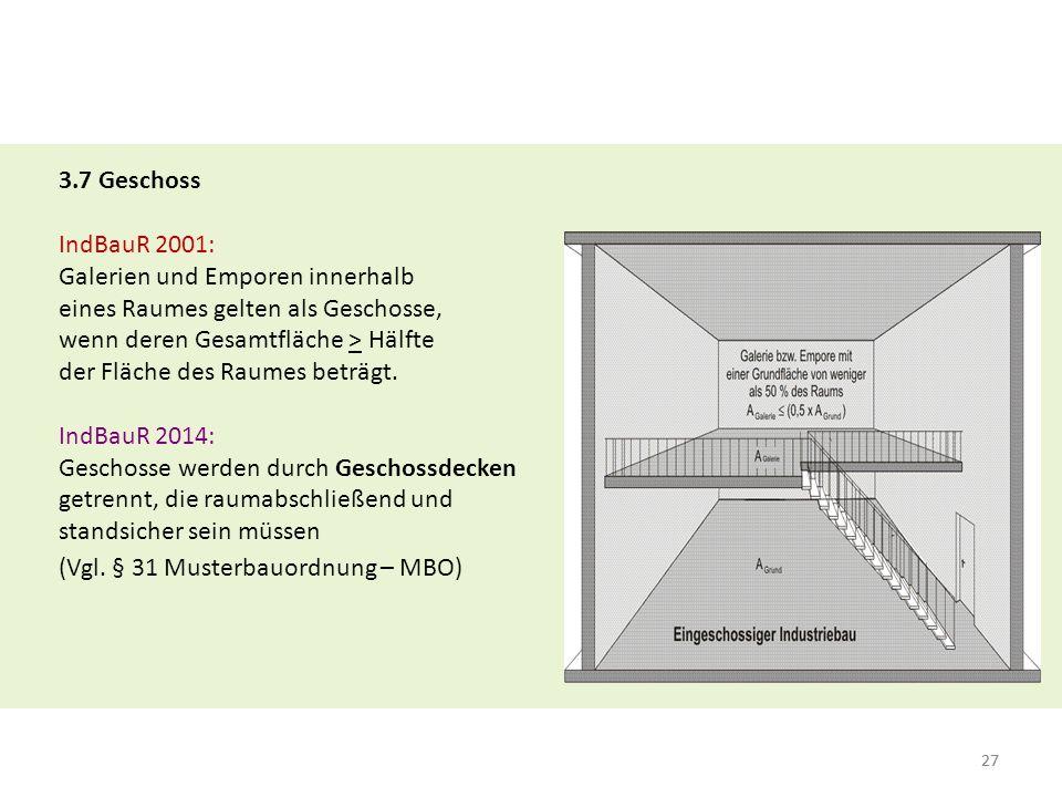 28 ► Keine Geschossdecke: - Decken mit Öffnungen, oder - Decken mit Öffnungsverschlüssen, die nicht in der gleichen Feuerwiderstandsfähigkeit der Decken verschlossen werden.