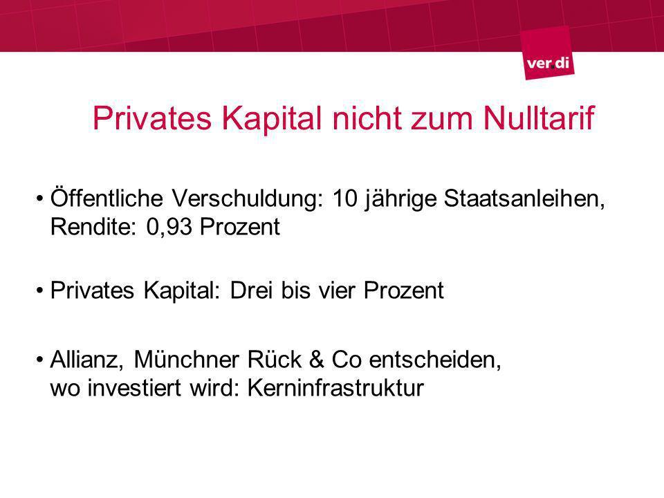 Freie Fahrt für ÖPP Dienstleistungsverträge zwischen öffentlicher Hand und privaten Unternehmen.