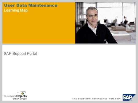 User Data Maintenance Learning Map SAP Support Portal.