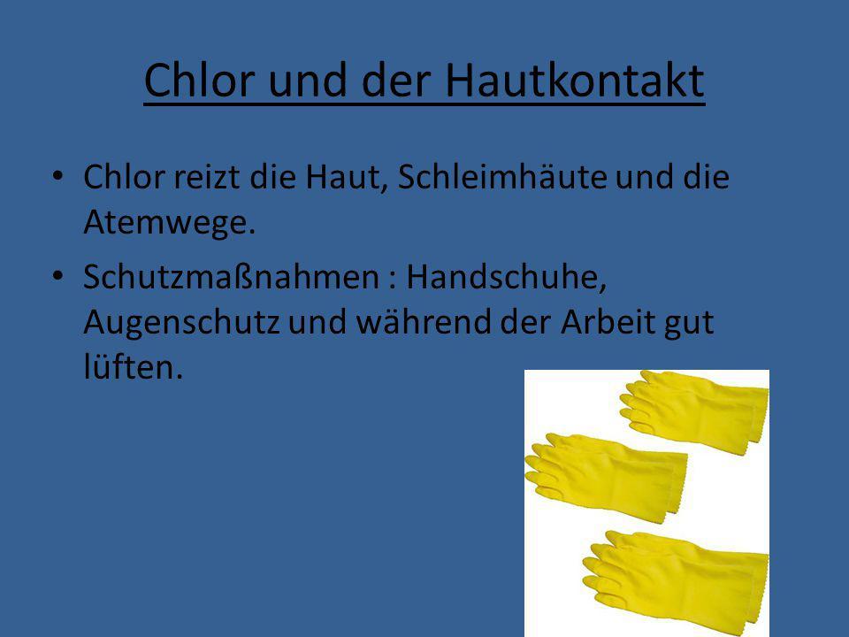 Umweltschäden von Chlor Kommt Chlor mit Organischen Stoffen in Berührung (Z.B.