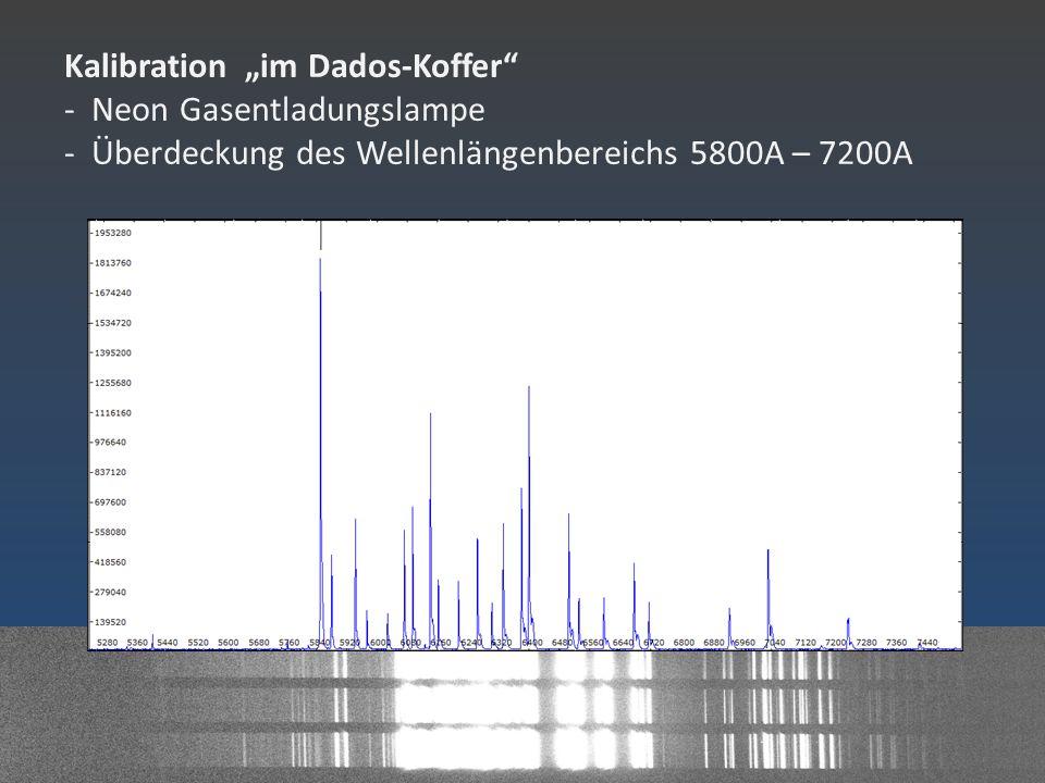 Tageslichtspektren - Kalibration durch Neon Spektrum - Kalibration durch Tellurische Linien (bzw.