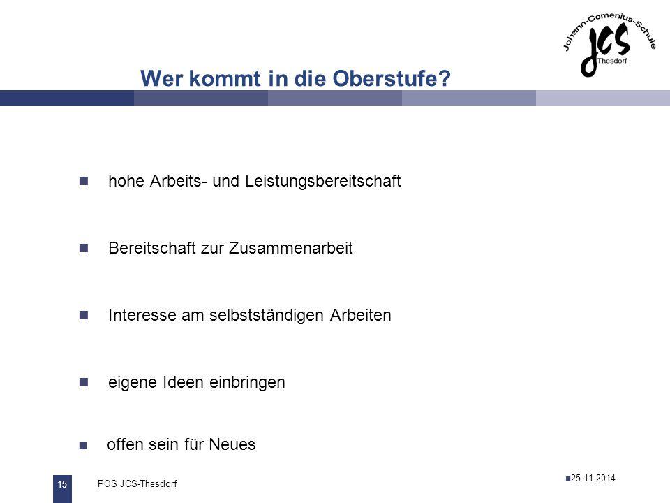 16 POS JCS-Thesdorf29.11.2011 Wie geht es weiter.Externe: Bis 27.