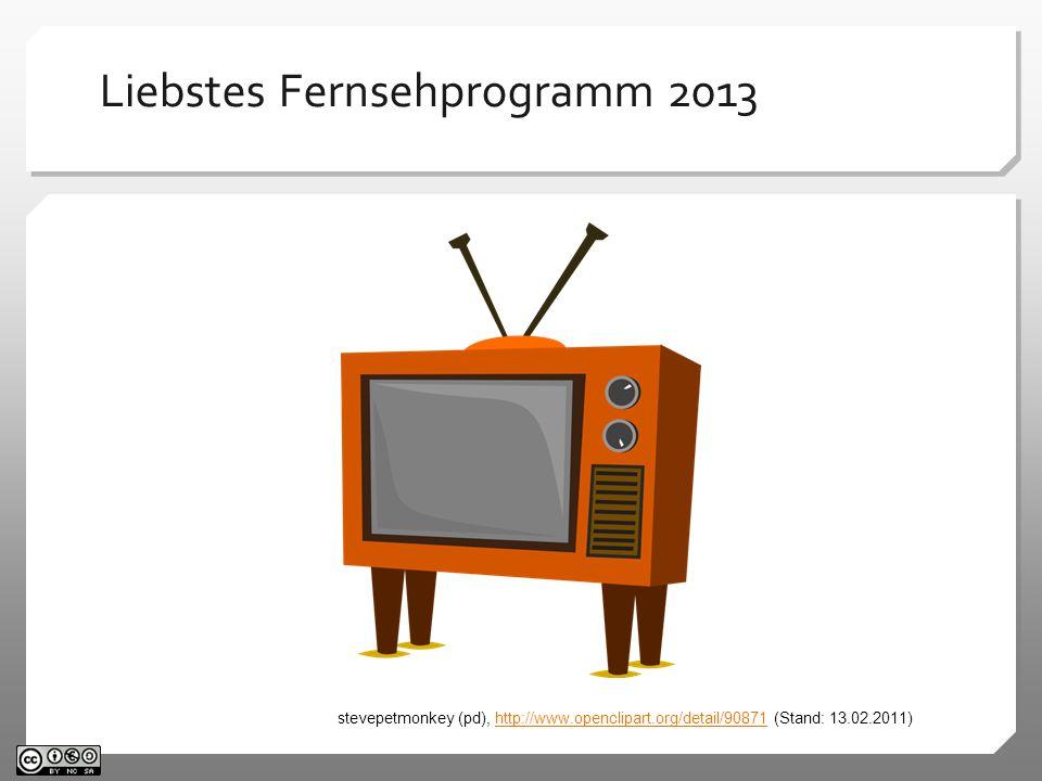 Liebstes Fernsehprogramm* 2013