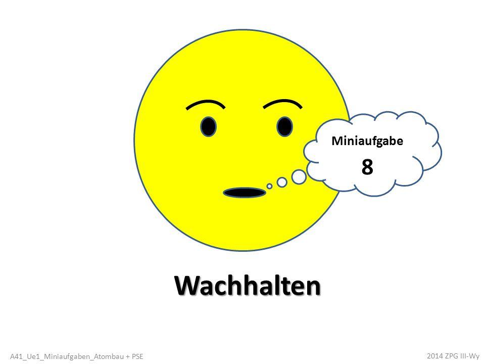 Karl Achwieschlau ist unsicher, ob das stimmt, was er im Heft notiert hat: Alle Elemente mit gleicher Anzahl an besetzten Elektronen- schalen stehen jeweils in einer senkrechten Spalte, der Gruppe.