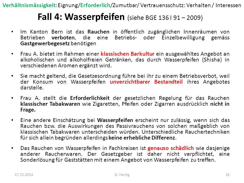Fall 5-1: Zwangsmedikation (siehe BGE 130 I 16 – 2004) Gemäss ärztlicher Beurteilung leidet Frau X.