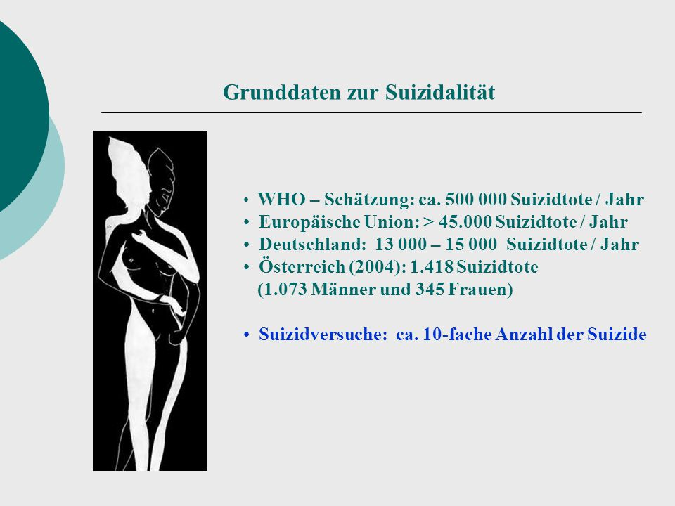Europäische Suizid-Statistik