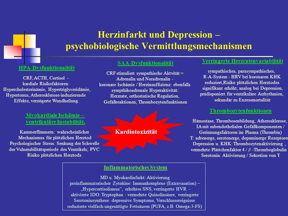Depression – Versorgungssituation durch Internisten / Allgemeinmediziner Versorgungsrealität – spezifische Therapie von Depressionen (n = 732) Behandlungsstatus behandelt unerkanntunerkannt/unbehandelt [n = 211][n = 196][n = 521] 14 – 24 Jahre12.9 %34.1 %87.1 % 24 – 4440.2 %21.1 %59.8 % 45 +46.6 %19.1 %53.4 % gesamt28.8 %26.8 %71.1 % Männer11.7 %43.0 %88.3 % Frauen34.4 %21.5 %65.5 % Wittchen et al.