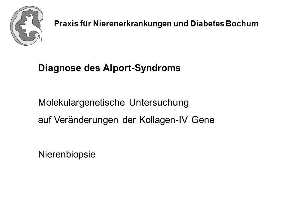Praxis für Nierenerkrankungen und Diabetes Bochum Im Verlauf kommt es zu einer zunehmenden Verschlechterung der Nierenfunktion, die zur Dialysepflichtigkeit führt.