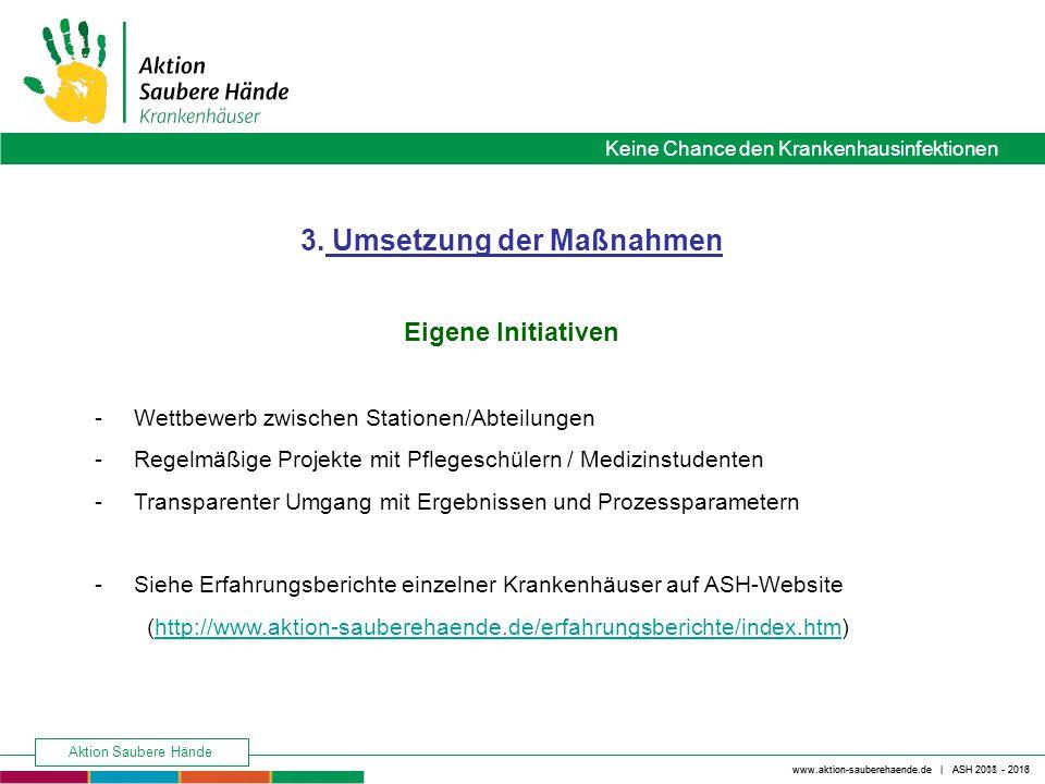 Keine Chance den Krankenhausinfektionen www.aktion-sauberehaende.de | ASH 2008 - 2016 Aktion Saubere Hände www.aktion-sauberehaende.de | ASH 2011 - 2013 4.