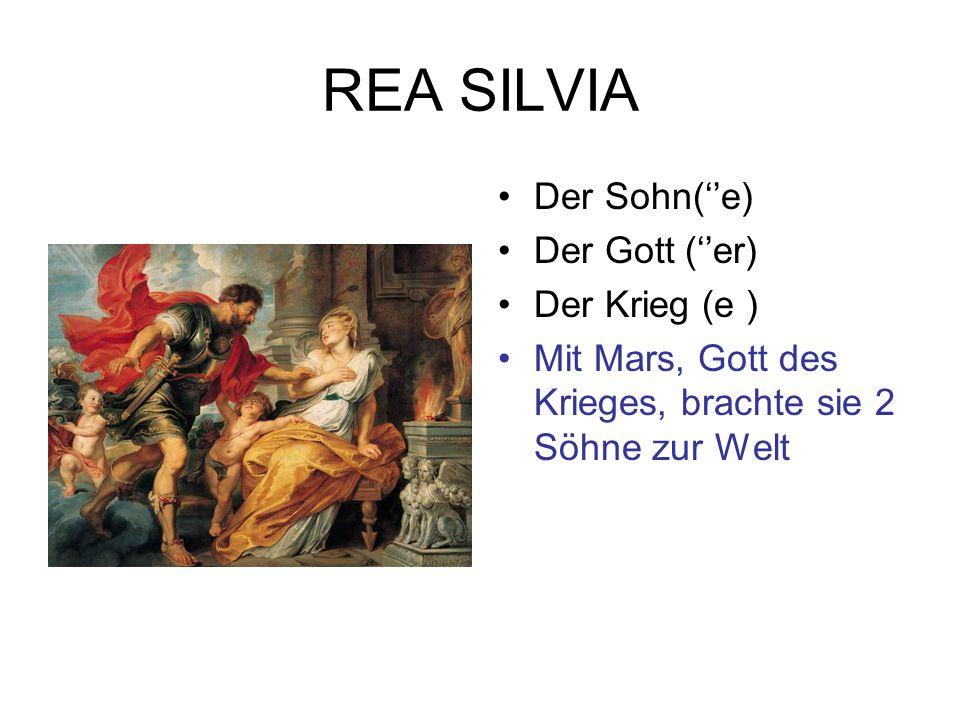 Romulus und Remus Der Fluss (''e) Der Knabe(n) Das Ufer (-) Der Korb (''e) Man sieht einen Mann am Ufer eines Flusses : der Tiber.