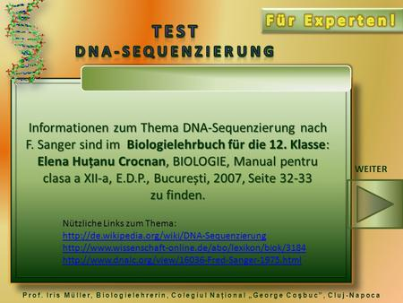 TEST DNA-Sequenzierung