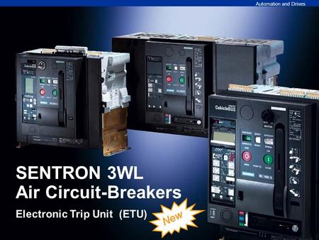 SENTRON 3WL Air Circuit-Breakers Electronic Trip Unit (ETU)