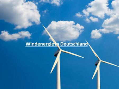 Windenergie in Deutschland