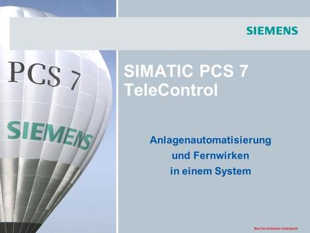 SIMATIC PCS 7 TeleControl