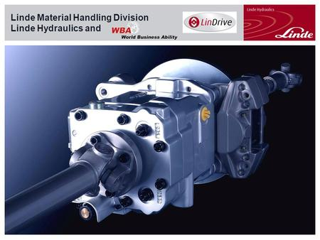 Linde Material Handling Linde Material Handling Division Linde Hydraulics and.