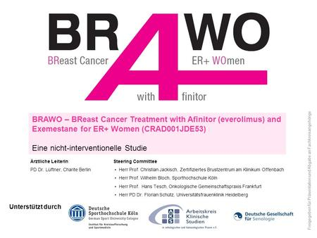 BRAWO – BReast Cancer Treatment with Afinitor (everolimus) and Exemestane for ER+ Women (CRAD001JDE53) Eine nicht-interventionelle Studie Unterstützt durch.
