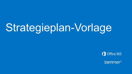 Strategieplan-Vorlage