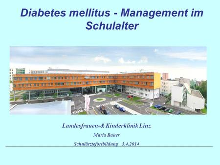Diabetes mellitus - Management im Schulalter
