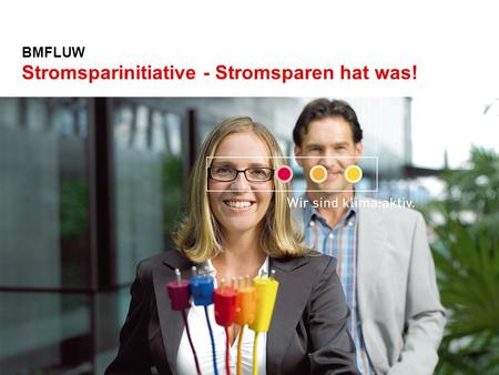BMFLUW Stromsparinitiative - Stromsparen hat was!.