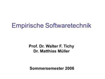 Empirische Softwaretechnik